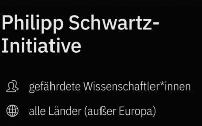 Décima convocatoria para becas de la Iniciativa Philipp Schwartz en Alemania